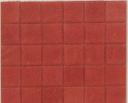 Dark Red Square Quarry Floor Tiles Dolls House